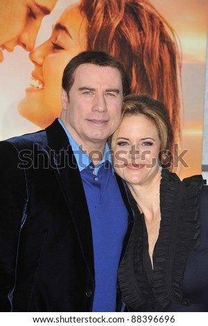 "John Travolta & wife Kelly Preston at the world premiere of her new movie ""The Last Song"" at the Arclight Theatre, Hollywood. March 25, 2010  Los Angeles, CA Picture: Paul Smith / Featureflash"