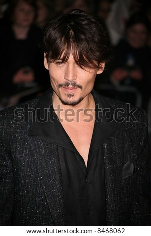 Johnny Depp at the European Premiere of 'Sweeney Todd' at the Odeon Leicester Square on January 10, 2008 in London, England. Credit: Entertainment Press - stock photo
