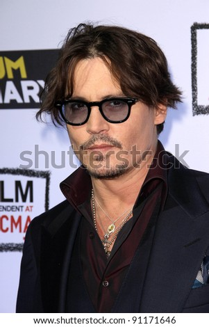 "Johnny Depp at""The Rum Diary"" Los Angeles Premiere, LACMA, Los Angeles, CA 10-13-1"