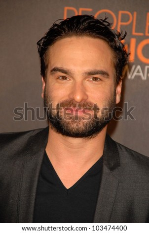 Johnny Galecki at the arrivals for the 2010 People's Choice Awards, Nokia Theater L.A. Live, Los Angeles, CA. 01-06-10