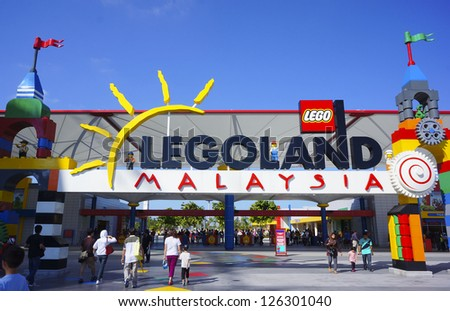JOHOR - JANUARY 27: Atmosphere at Legoland Malaysia on January 27, 2013 in Johor Malaysia. It is the first Legoland park to open in Asia. - stock photo