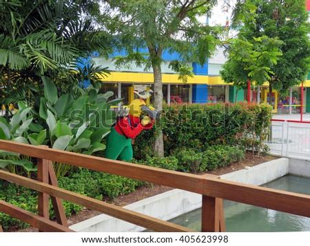 JOHOR MALAYSIA  - NOVEMBER 11: LEGOLAND Malaysia Resort 2014 - stock photo