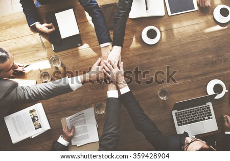 Join Hands Partnership Agreement Meeting Corporate Concept - stock photo