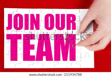 join our team - stock photo