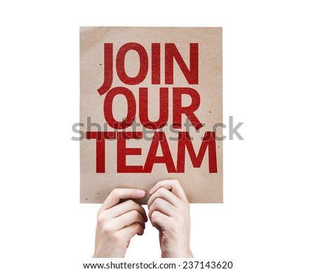 Join Our Team card isolated on white background - stock photo
