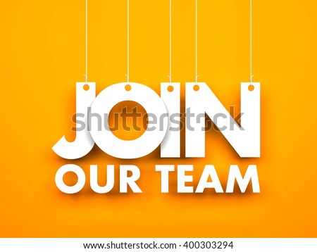 Join our team. 3d illustration - stock photo