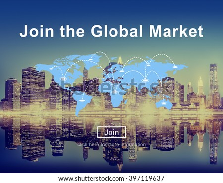 Join the Global Marketing Business Strategy Commerce Website Concept