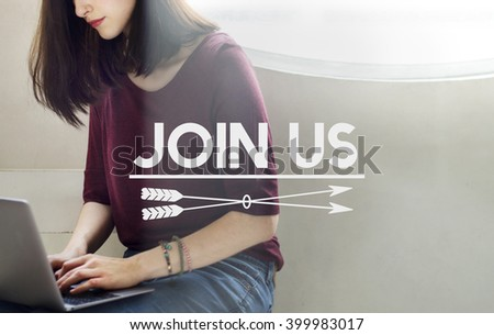 Join Us Recruitment Employment Hiring Concept