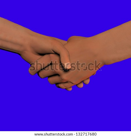 joining hands - stock photo