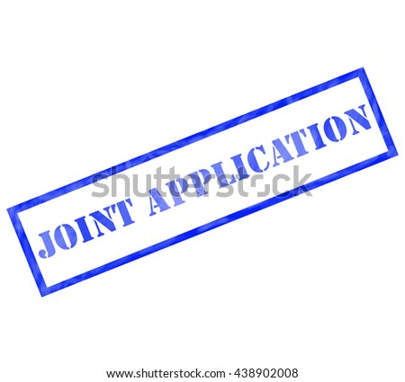 Joint Application Blue Rectangle Stamp making a great concept - stock photo