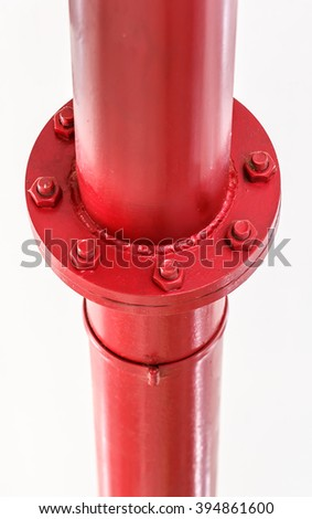 joint per hydrant fire extinguisher ready to use - stock photo