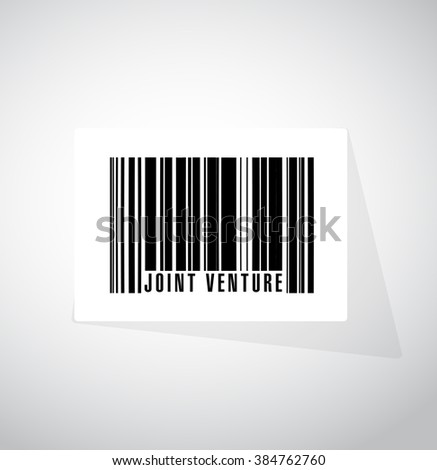 Joint Venture barcode sign concept illustration design graphic