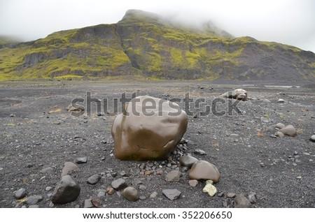 Joklagongur Glacier in Iceland - stock photo