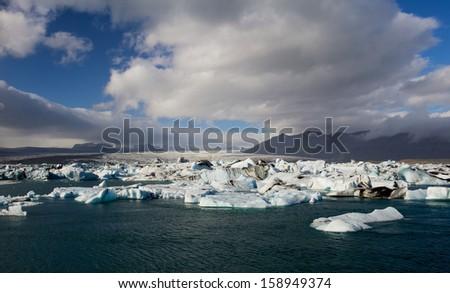 Jokulsarlon - Glacier lake in the Vatnaj�¶kull National Park in Iceland - stock photo