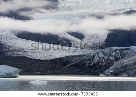 jokulsarlon glacier lake on iceland - stock photo