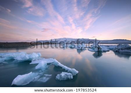 Jokulsarlon , Iceland / Jokulsarlon  - stock photo