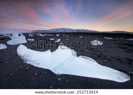 Jokulsarlon, Iceland. / Jokulsarlon Beach - stock photo