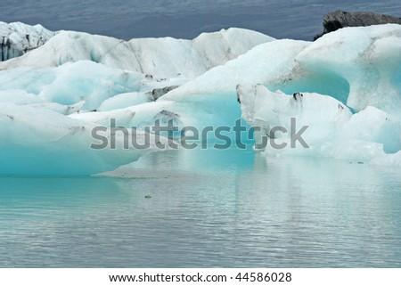Jokurlarsson glacier lake - stock photo