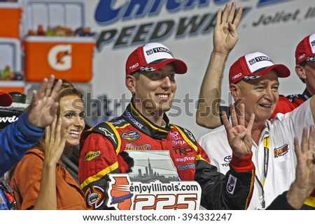 Joliet, IL USA - August 28, 2009: Chicagoland Speedway 225, NASCAR Camping World Truck Series. Race WInner 51 Kyle Busch Miccosukee Resort, Red Top Auto Auction, Toyota