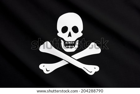 Jolly Roger waving
