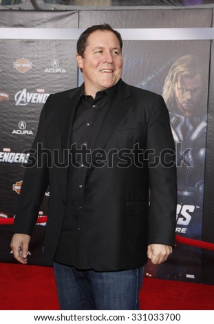 "Jon Favreau at the Los Angeles premiere of ""The Avengers"" held at the El Capitan Theater in Hollywood, USA on April 11, 2012."