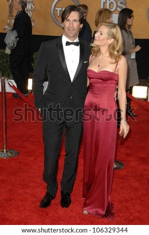 Jon Hamm and Jennifer Westfeldt at the 15th Annual Screen Actors Guild Awards. Shrine Auditorium, Los Angeles, CA. 01-25-09