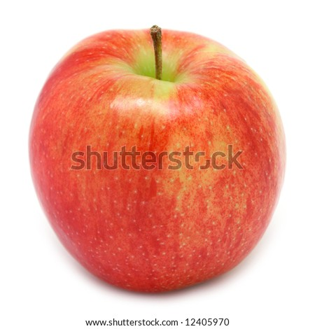 Jonagold apple isolated on white - stock photo