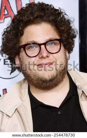 """Jonah Hill attends the World Premiere of """"Forgetting Sarah Marshall"""" held at the Grauman's Chinese Theater in Hollywood, California, United States on April 10, 2008.  - stock photo"""
