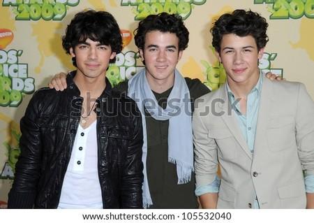 Jonas Brothers at Nickelodeon's 2009 Kids' Choice Awards. Pauly Pavillion, Westwood, CA. 03-29-09 - stock photo
