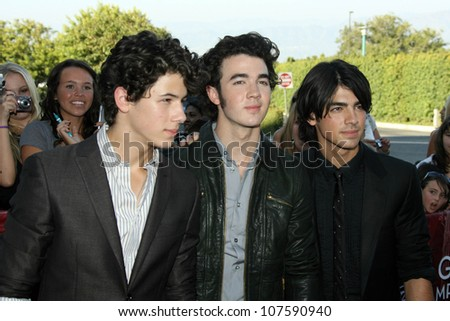 Jonas Brothers  At the 'Disney Concert For Hope' a benefit concert of City Of Hope. Gibson Amphitheatre, Universal City, CA. 09-14-08