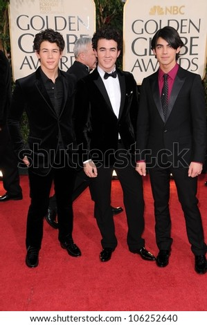 Jonas Brothers at the 66th Annual Golden Globe Awards. Beverly Hilton Hotel, Beverly Hills, CA. 01-11-09
