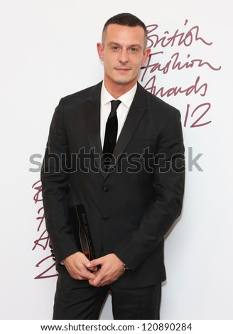 Jonathan Saunders in the press room for The British Fashion Awards 2012 held at The Savoy, London. 27/11/2012 Picture by: Henry Harris
