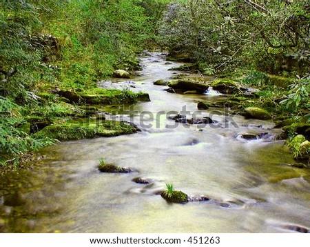 Jones Gap Stream - stock photo