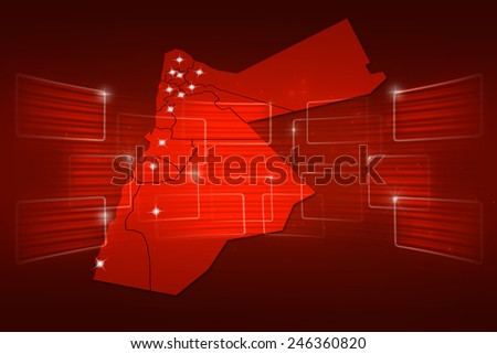 Jordan Map World map News Communication delivery red