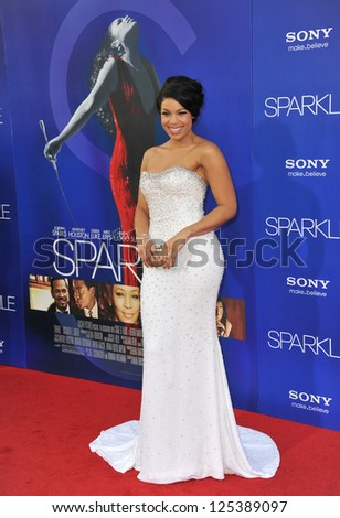 "Jordin Sparks at the world premiere of her movie ""Sparkle"" at Grauman's Chinese Theatre, Hollywood. August 16, 2012  Los Angeles, CA Picture: Paul Smith"