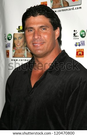 Jose Canseco at the launch party for the Carmen Electra PrePaid MasterCard and the Carmen Electra Gift MasterCard. The Red Pearl Kitchen, Los Angeles, CA. 10-25-06 - stock photo