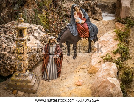 Joseph and Mary going to Egypt