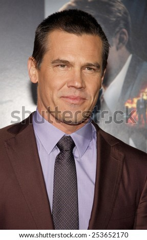 "Josh Brolin at the Los Angeles premiere of ""Gangster Squad"" held at the Grauman's Chinese Theatre in Los Angeles, United States, 07-01-13. - stock photo"