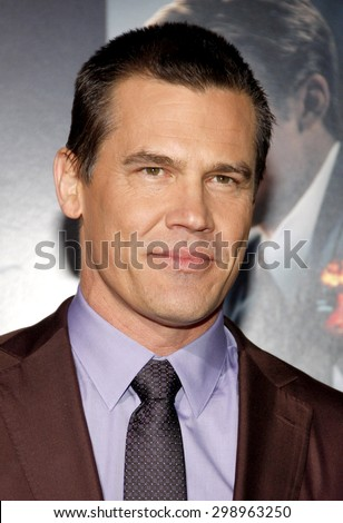Josh Brolin at the Los Angeles premiere of 'Gangster Squad' held at the Grauman's Chinese Theatre in Hollywood on January 7, 2013.  - stock photo