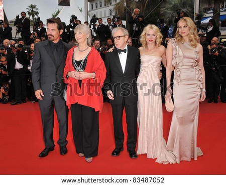 "Josh Brolin, Gemma Jones, Woody Allen, Naomi Watts & Lucy Punch. Premiere of ""You Will Meet A Tall Dark Stranger"" at the 63rd Festival de Cannes. 5-15-10  Cannes, France By: Paul Smith / Featureflash"