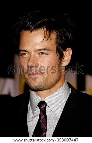 "Josh Duhamel at the World Premiere of ""When in Rome"" held at the El Capitan Theater in Hollywood, California, United States on January 27, 2010."