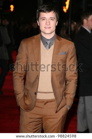 Josh Hutcherson arriving at the European Premiere of 'The Hunger Games' at the O2 Arena, London. 14/03/2012 Picture by: Alexandra Glen / Featureflash - stock photo