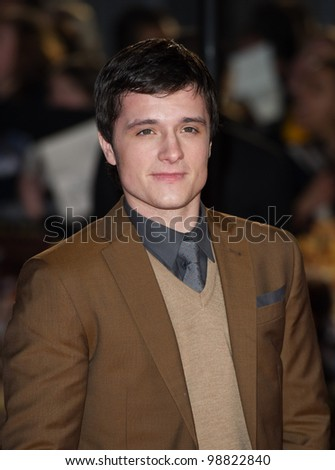 Josh Hutcherson arriving at The Hunger Games Premiere, at the 02 Arena, London. 14/03/2012 Picture by: Simon Burchell / Featureflash - stock photo