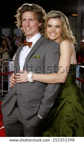 "Josh Meyers and Missi Pyle attend the Los Angeles Premiere of ""Just My Luck"" held at the National Theatre in Westwood, California, on May 9, 2006."