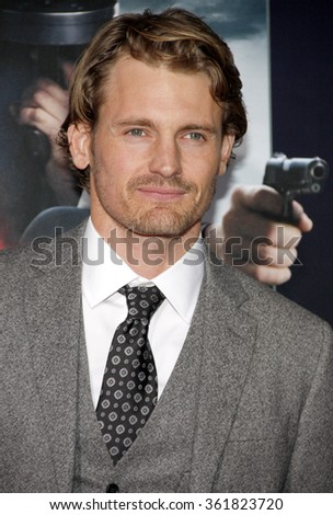 "Josh Pence at the Los Angeles premiere of ""Gangster Squad"" held at the Grauman's Chinese Theatre in Los Angeles, USA on January 7, 2013. - stock photo"