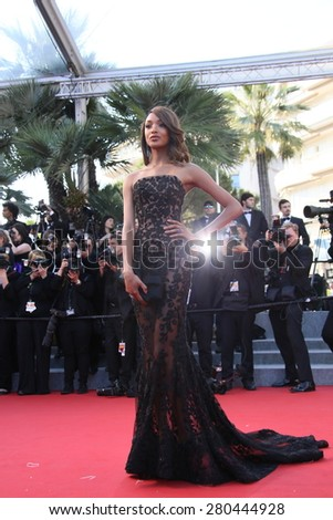 Jourdan Dunn attends the 'Little Prince' Premiere during the 68th annual Cannes Film Festival on May 22, 2015 in Cannes, France. - stock photo