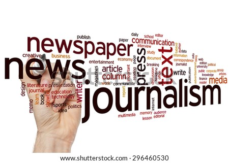 Journalism concept word cloud background - stock photo