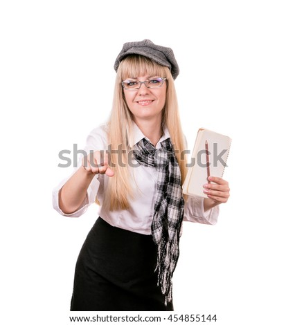 journalist preparing an article for putting into print