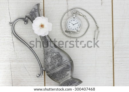Journey into the past - stock photo