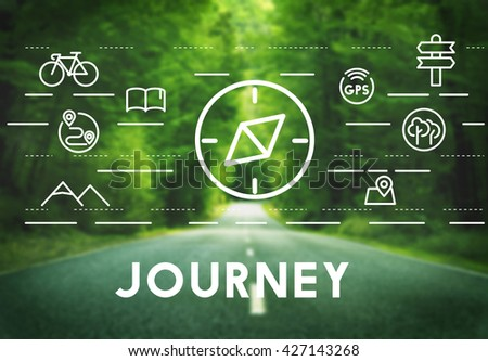 Journey Vacation Holiday Travel Compass Concept - stock photo